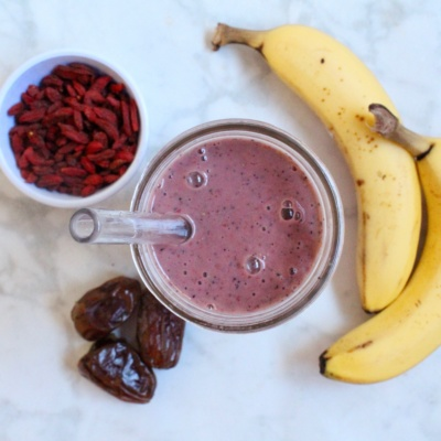 Triple Berry Protein Smoothie || Journey to Fit: Day 2